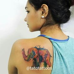 Done at ROCK CITY TATTOO SHOP By Tato Castro Tag your friends if you like this. Follow us!!!!! https://instagram.com/tatotattoos/ elephant tattoo