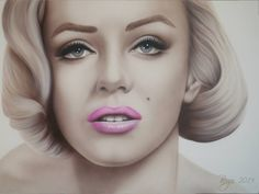 Marilyn Monroe Airbrush Painting  Homage to Marilyn Monroe the most beautiful woman of the 50s Airbrush Painting on Canvas
