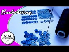 Basic Embroidery Stitches, Hand Embroidery Videos, Hand Embroidery Designs, Embroidery Fashion, Beaded Embroidery, Flower Video, Couture, Sewing Techniques, Beaded Flowers