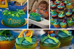 Rio Movie Smash Cake and Cupcakes