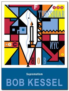 SUPREMATISM POSTER (That Funny Subway Smell) by bobkessel
