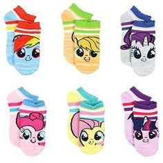 Feel the magic of friendship wearing these adorable Hasbro My Little Pony girls and women's no show style socks! This set includes six pairs each featuring different pastel colors with glitter accents and fun graphics of your favorite characters: R Diaper Bag, Cute Socks, Women's Socks, Hasbro My Little Pony, My Little Pony Characters, Imagenes My Little Pony, Youth Shoes, Pbs Kids, Pencil Bags