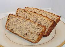 Low-Carb Banana Bread- Only 6 net carbs! Substitute shredded Zucchini and it will have even less Carbs!