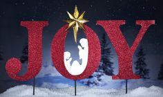 Joy Inspirational Holiday Garden Stakes Nativity