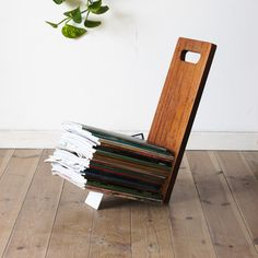 Eli Shelf Gray now featured on Fab. Wooden Magazine Rack, Magazine Storage, Grey Furniture, Home Furniture, Wood Projects, Projects To Try, Consoles, Home Crafts, Diy Crafts