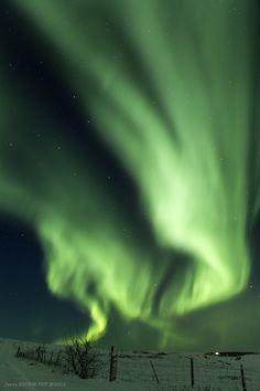 Aurora Borealis in Reykjavik, Iceland