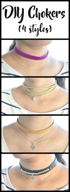 DIY chokers 4 different styles