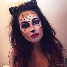 Easy and Simple Cheetah Halloween Makeup