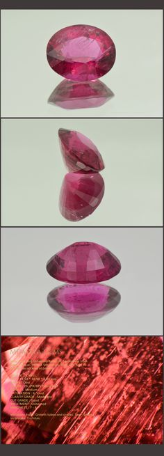 Very Vivid Red Unheated Rubellite Tourmaline from Mozambique. Perfect Saturation. Oval Cut. 5.96 ct. Perfect for all kind of jewelry. Loose Tourmaline Gemstones MdMaya Gems