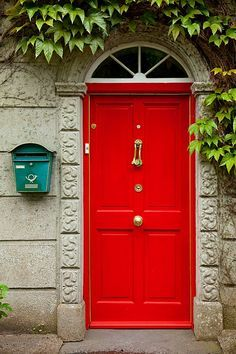 Style, Decor, Color: Red Door, I have always wanted my front door of my house to be Red because it is so vibrant and unexpected. The Red draws peoples attention right away, it makes people wonder what the rest of the house is like.