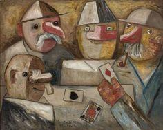 Gra w karty - Tadeusz Makowski