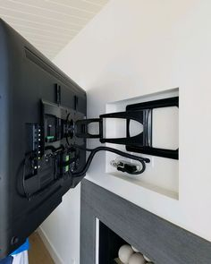 Design, Sales and Installation. Wire Management, Cable Management, Bedroom Tv Wall, Bedroom Decor, Corner Unit Living Room, Tv Rack, Fireplace Wall, House Colors, Home Projects