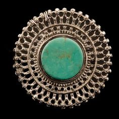 Silver and Turquoise Ring   Rajasthan   India   Circa Early 20th Century