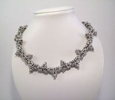 Mens necklace.  Chainmaille necklace.  by Eternalelfcreations, $40.00