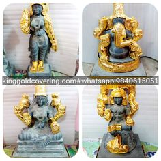 Happy Ganesh Chaturthi Images, Temple, Statue, Silver, Gold, Temples, Sculptures, Sculpture, Yellow