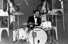 Buddy on his classic Slingerlands.