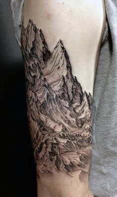 Nature Inside Arm Tattoos For Men