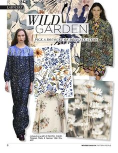 #Pattern People FW 18/19 trend preview, Wild Garden, on #WeConnectFashion
