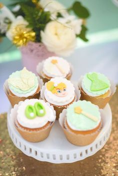 Peter Pan / Tinkerbell Birthday Party Ideas | Cupcakes
