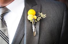 Boutonnieres for the Boys, Wedding Flowers Photos by Two One Photography