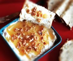 Goat Cheese and Honey Spread - This appetizer is a great afternoon snack, but would also be a perfect appetizer for a dinner party, pot luck, or barbecue.