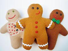 Gingerbread Boy by Sara Elizabeth Kellner; free knitting pattern