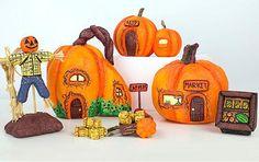 Fall Pumpkin Village - Project by DecoArt.. made with a sheet of styrofoam,