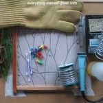 How to make your own putty. Stained Glass Tools and Equipment #StainedGlassHowToMake