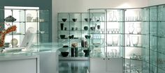 Range of Premier Glass cabinets