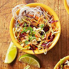 Cabbage and Carrot Salad with Peanut Sauce From Better Homes and Gardens, ideas and improvement projects for your home and garden plus recipes and entertaining ideas.