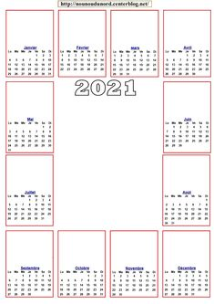 9 idées de CALENDRIER 2021 à imprimer noël ou annuel en 2020