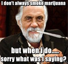 I don't always but when i do | don't always smoke marijuana but when i do…