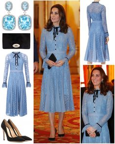 """For her first appearance since announcing her third pregnancy, the Duchess opted for a new dress by…"""