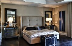 Our Nina Bed and Borghese Mirrored 3 Drawer Chests add stunning appeal to this bedroom by Interior Motives.