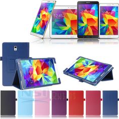 "Folio Case Smart Cover For Samsung Galaxy Tab 4 7"" 8"" 10.1"" Tab S 8.4"" T230 T330"