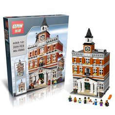 68.00$  Buy now - http://aliv9i.worldwells.pw/go.php?t=32690233432 - Free shipping LEPIN 15003 New 2859Pcs Creators The town hall Model Building Kits  Blocks Kid Toy Gift Compatible 10224