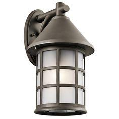 Kichler Lighting 49620OZ Town Light 1 Light 17 inch Olde Bronze Outdoor Wall Mount