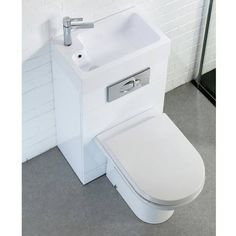 Metro Combined Two-In-One Wash Basin & Toilet (500mm wide x 300mm) Profile Image
