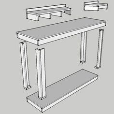 DIY mobile workbench for mitre saw