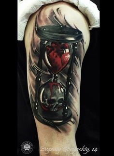 As part of my reaper tattoo except with the bottom of the hour glass broken and the blood dripping out of the bottom. Tattoo Scull, Skull Rose Tattoos, Skull Tattoo Design, Tattoo Designs Men, Arm Tattoo, Body Art Tattoos, New Tattoos, Tattoo Drawings, Sleeve Tattoos
