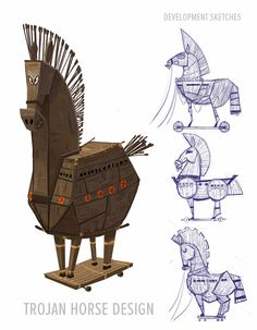 Peabody and Sherman Props and things! Peabody used to be cool. Kid Character, Character Drawing, Character Design, Mr Peabody & Sherman, Trojan Horse, Concept Art World, Space Pirate, Prop Design, Visual Development