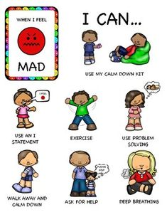 Http: Discover Coping with Mad Feelings These worksheets help kids learn healthy ways to manage mad feelings. Emotions Preschool, Emotions Activities, Counseling Activities, Anger Management Activities For Kids, Classroom Behavior Management, Kids Behavior, Teaching Kids, Kids Learning, Kids Coping Skills