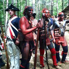 Revolutionary War Re-enactors at Newtown Battlefield State Park, Elmira, NY, Photo by DBamford