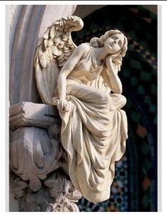 Beautiful stone angel
