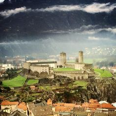 Castelgrande, Bellinzona, Switzerland - Castelgrande in Bellinzona,...