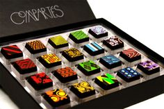 Compartes Chocolatier.  I'm sure they're delicious (and must be consumed in 2 weeks or less) -- but they may be too pretty to eat!