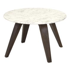 Found it at AllModern - Febe Short Marble and Wood End Table