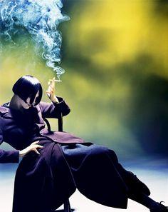"""Susie Smoking"" by Nick Knight for Yohji Yamamoto, 1988"