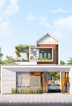 House Front Design, Small House Design, Modern House Design, Design Exterior, Facade Design, Home Modern, Modern House Plans, Minimalist House Design, Minimalist Home