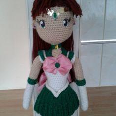 #sailor Jupiter #amigurumi #anime #sailor moon #handmade #amigurumi doll #crochet sailor jupiter #amigurumi sailor jupiter .... my design finally finished :-) by pendragon2508